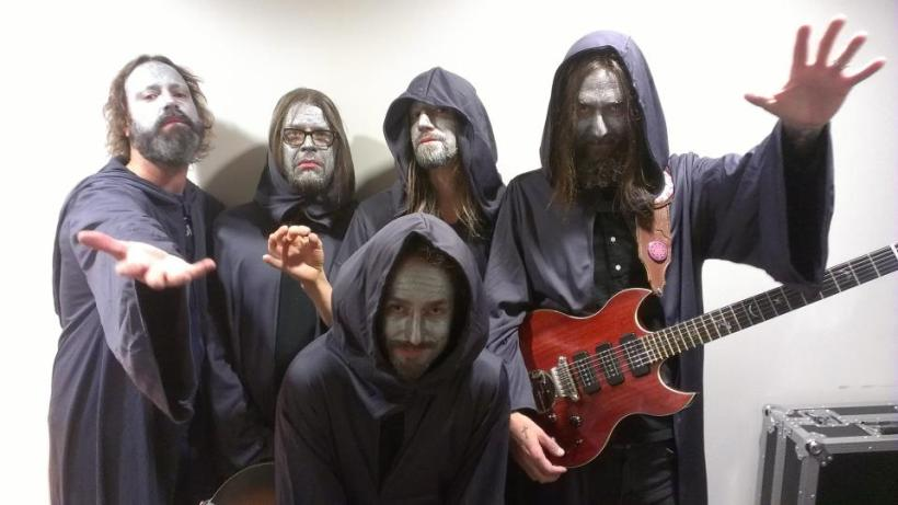 CRB, Halloween 2012 -- Clockwise from the left: Neal Casal, me, Adam MacDougall, Chris Robinson & Mark Dutton