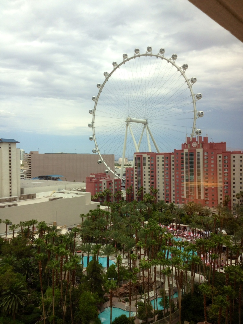 The High Roller...a giant 550-foot tall Ferris wheel in Las Vegas. Wowzers!