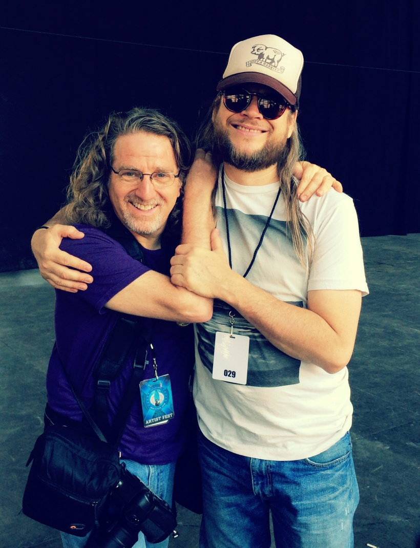 The great Jay Blakesberg and me at Mountain Jam, 2014. Happy to call this cat my friend! Photo courtesy of Neal Casal.