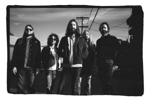 Myself, Muddy, CR, MacDougall & Casal...AKA, The Chris Robinson Brotherhood, outside our rehearsal space in Los Angeles...courtesy of Matt Mendenhall, 2014.