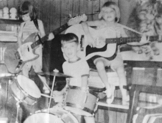 Jammin with my two sisters, Dawne & Audra, sometime in the early 70's in Memphis...courtesy of Dad.