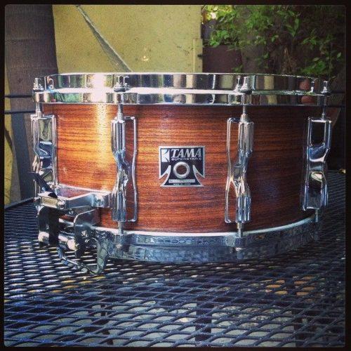 Vintage 6.5 x 14, Tama Rosewood snare drum
