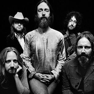 The CRB, clockwise from left: Adam MacDougall, yours truly, CR, Muddy & Neal Casal...courtesy of Matt Mendenhall.
