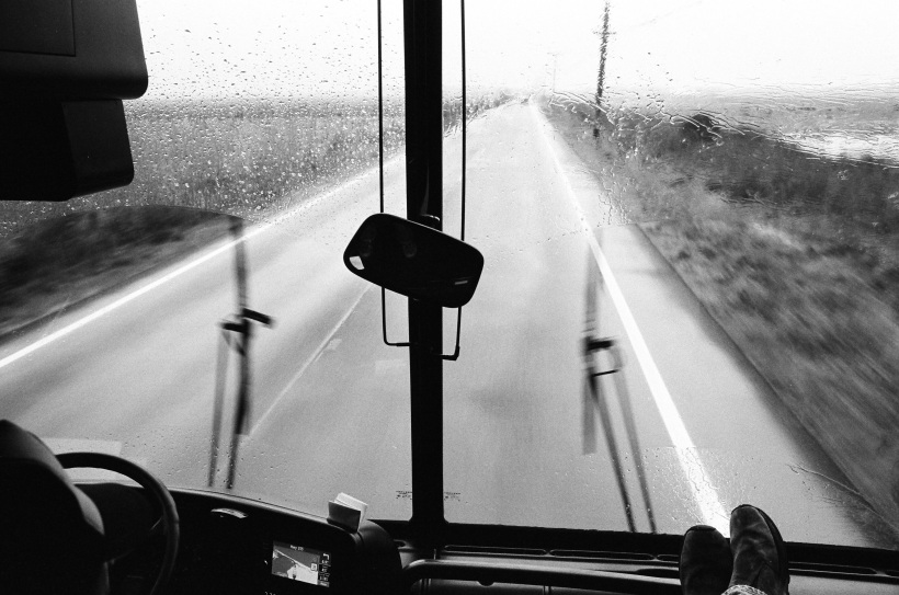 In the rain, up in Arcata, CA 2012...courtesy of Neal Casal.