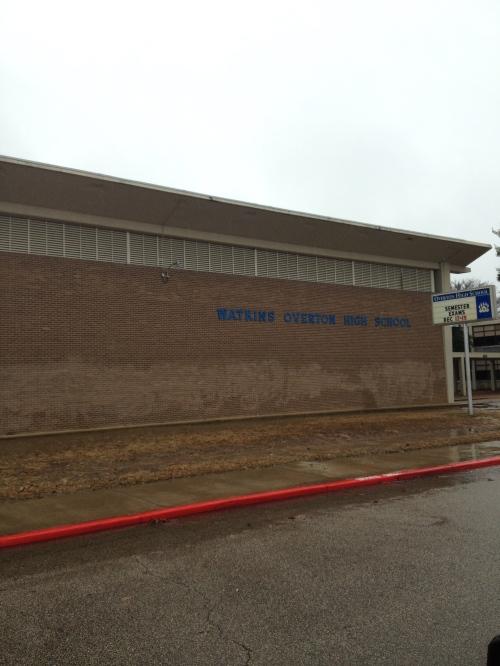 Watkins Overton High School, Memphis, TN. Hasn't changed much since 1986.